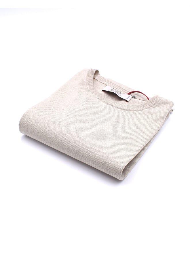 Pull beige (Soie)