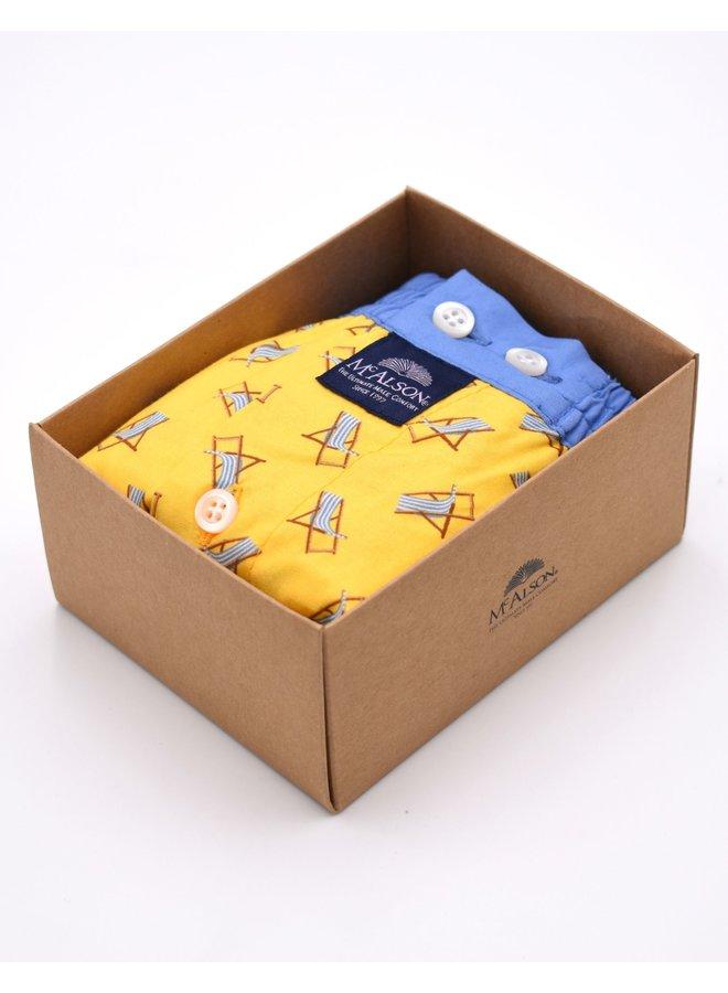 """Caleçon """"chaises longues jaune"""""""