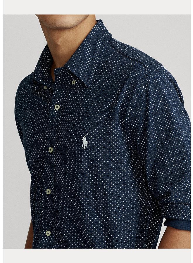"""Chemise """"Polo"""" Navy à motifs"""