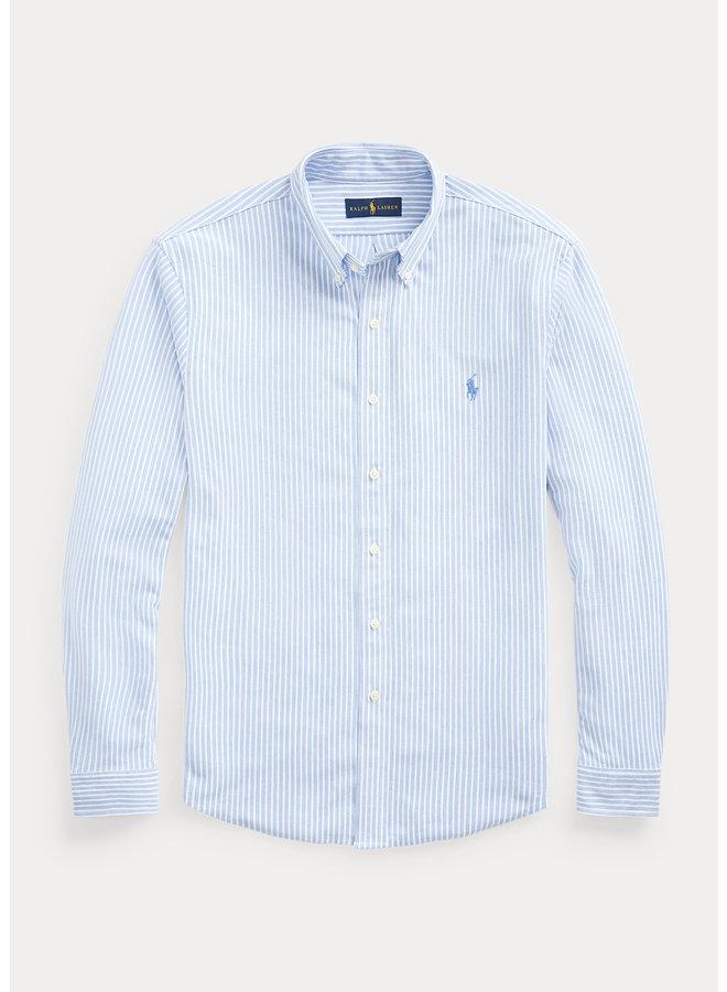 Chemise Oxford bleue lignée