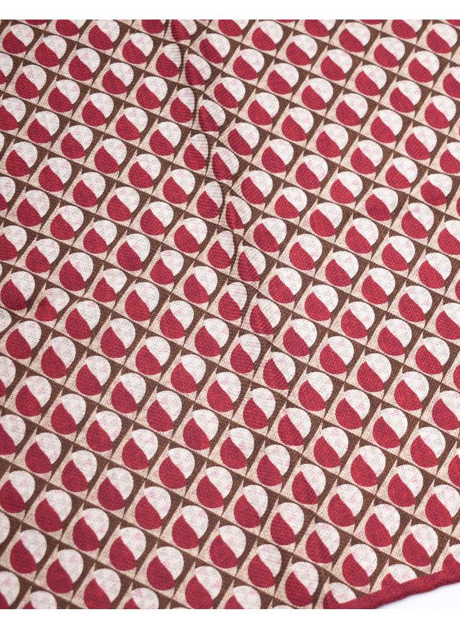 Pochette géométrique bordeaux