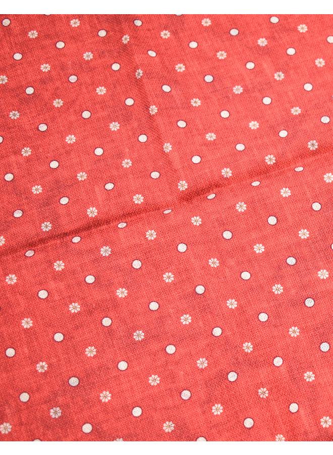 Pochette Fleurie Rouge (Liseré bordeaux)