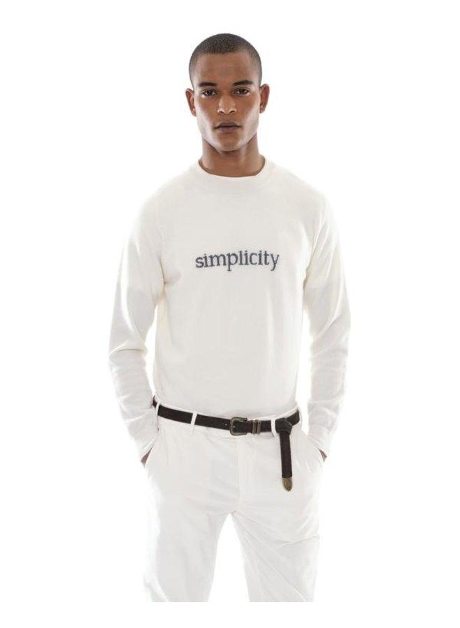 "Col Rond ""Simplicity"" Laine & Cachemire - Blanc"