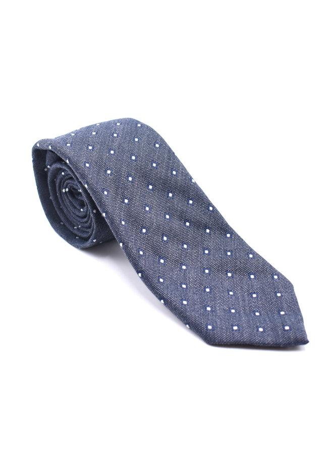 Cravate Grise (Motifs Losanges)