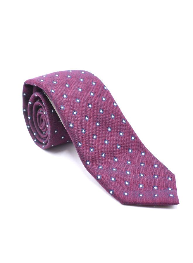 Cravate bordeaux (Motifs Losanges)