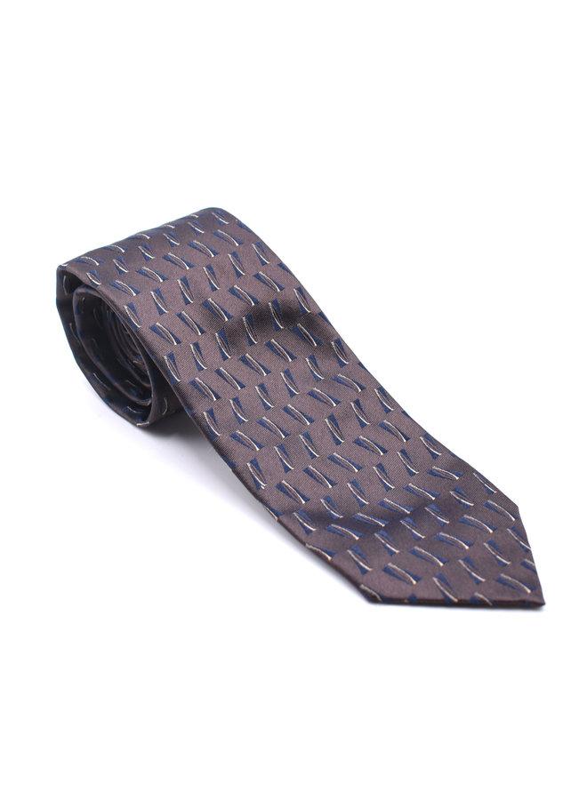 Cravate à motifs géométriques