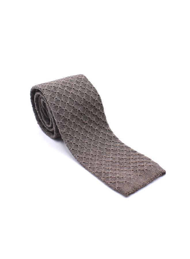 Cravate en tricot marron