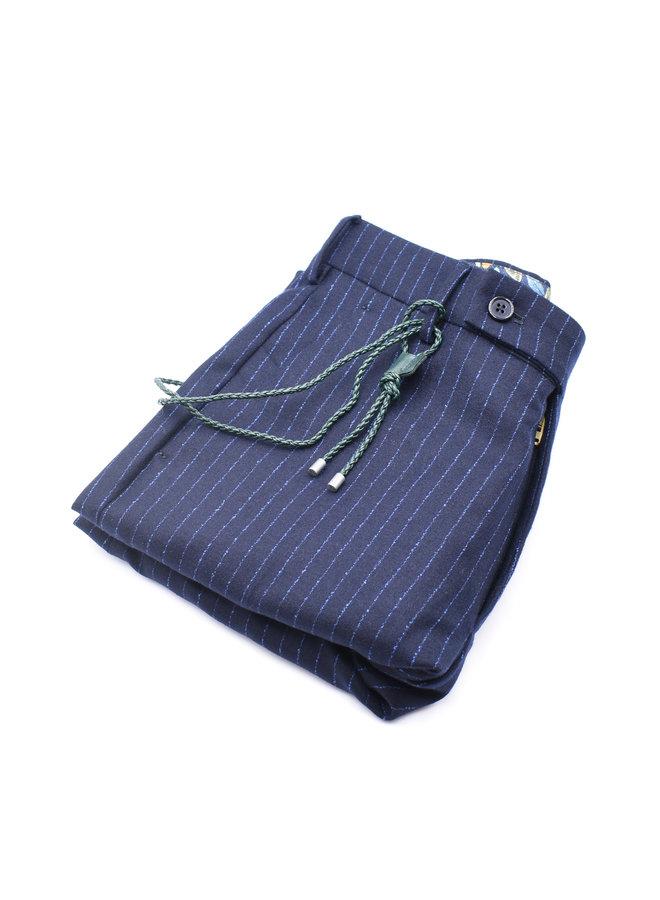 Pantalon Ligné Navy