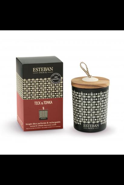 ESTEBAN -  Candle Teak and Tonka 170gr