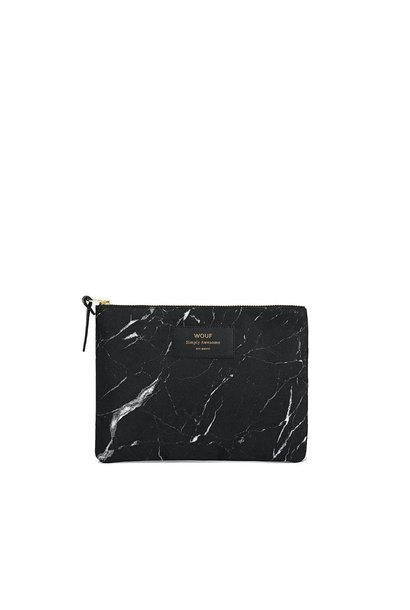 WOUF - Pouch Black Marble L