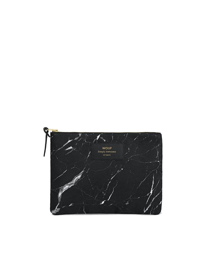 WOUF - Pouch Black Marble L-1