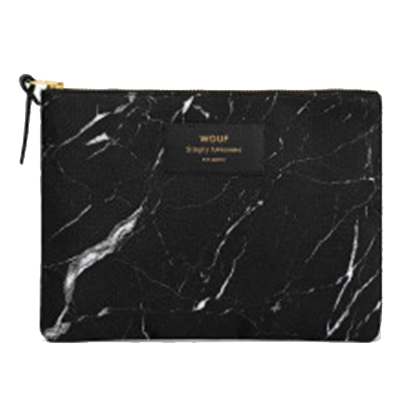 WOUF - Pouch Black Marble L-2