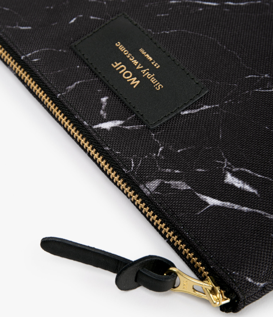 WOUF - Pouch Black Marble L-3