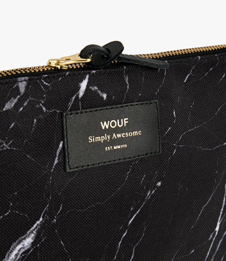 WOUF - Pouch Black Marble L-4