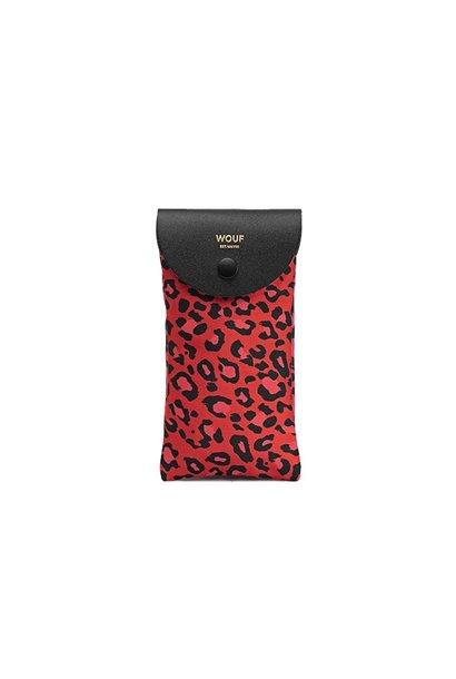 WOUF - Étui Lunettes Red Leopard