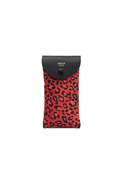 WOUF - Glasses Case Red Leopard