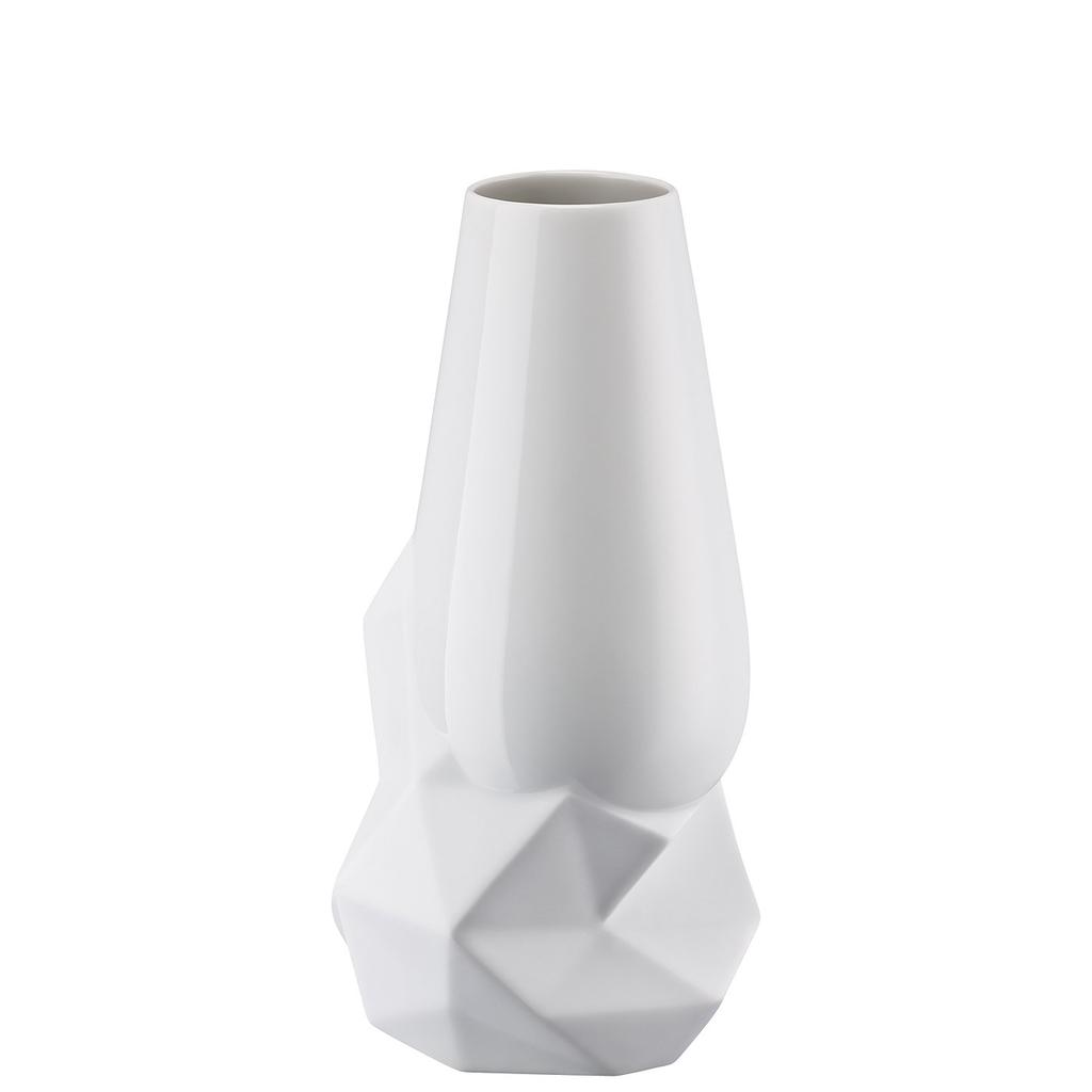 ROSENTHAL - Vase Geode Weiss 27cm-1