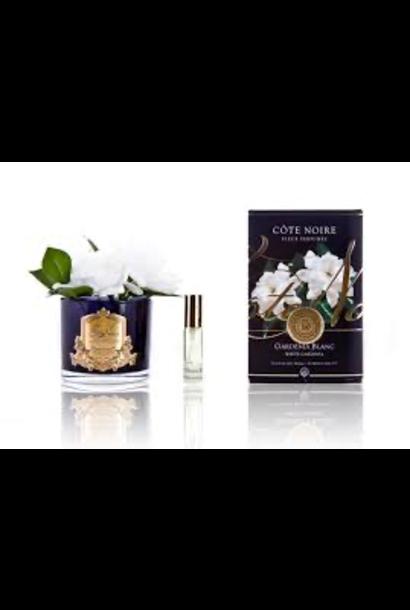 COTE NOIRE - Double Gardenias Flowers Black Vase