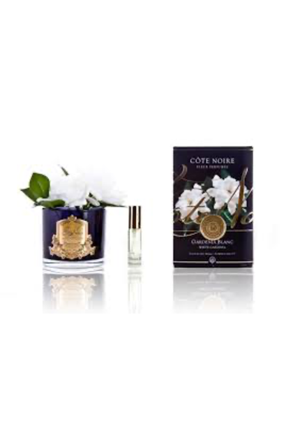 COTE NOIRE - Fleurs Double Gardénias Vase Noir
