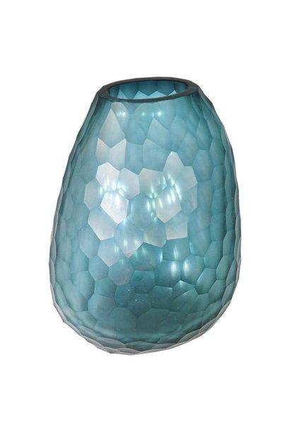 GUAXS - Vase Otavalo Petrole Clair 20cm