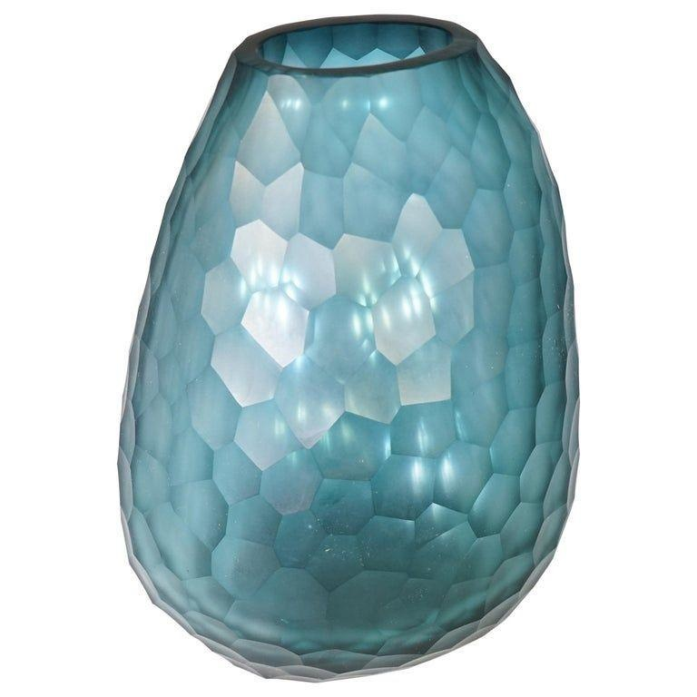 GUAXS - Vase Otavalo Petrol Clear 20cm-1