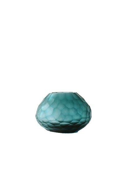 GUAXS -  Vase Otavalo Clear Petroleum 14cm