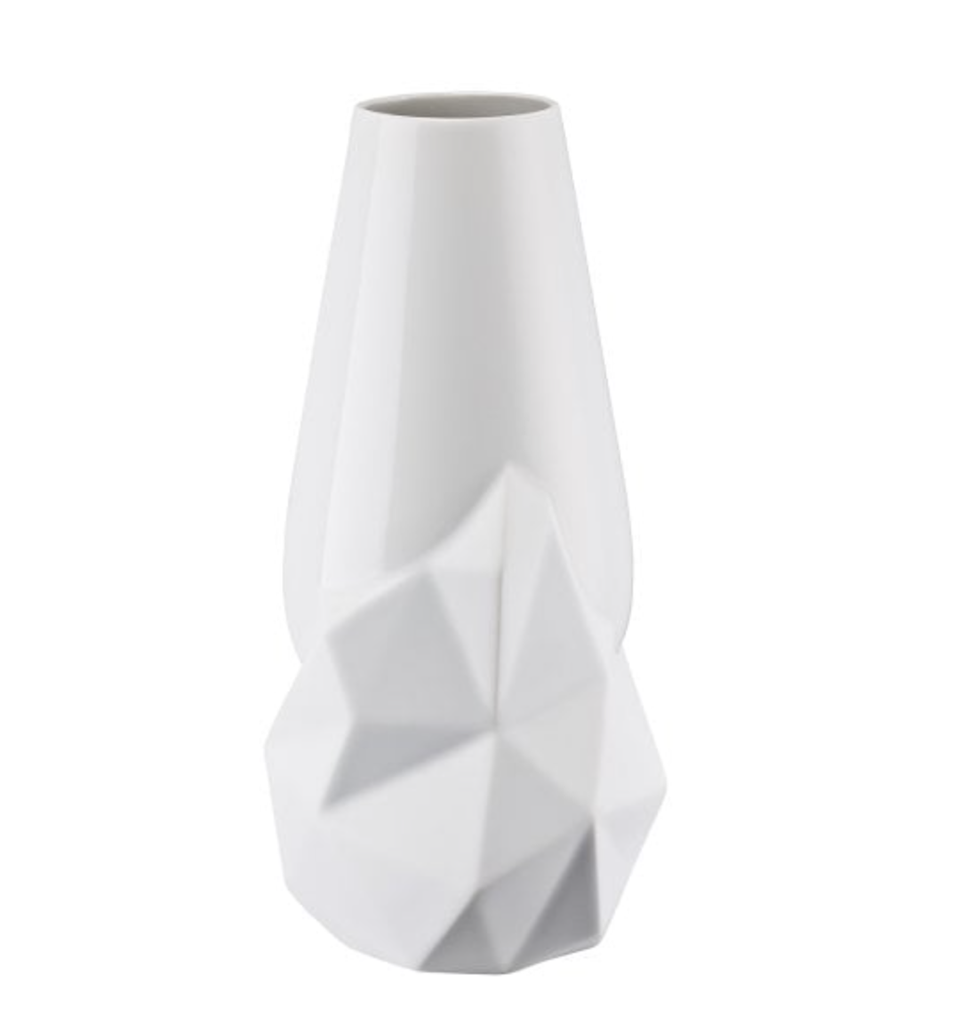 ROSENTHAL - Vase Geode Weiss 27cm-2