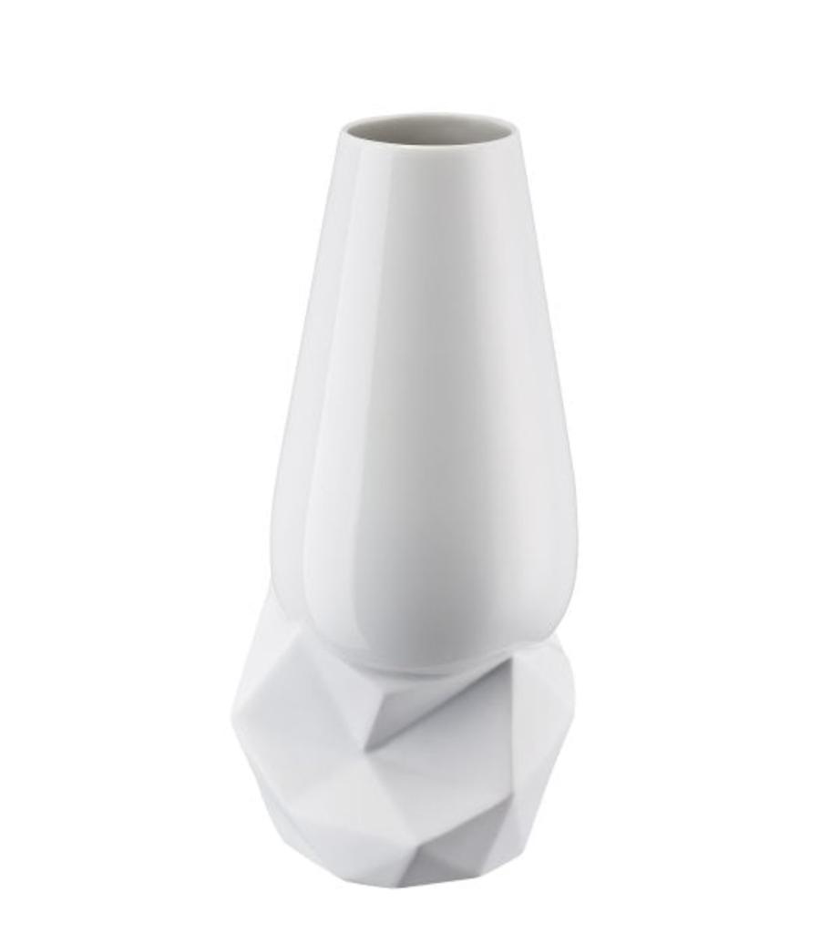 ROSENTHAL - Vase Geode Weiss 27cm-4
