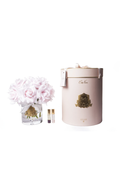 COTE NOIRE - Grand Bouquet Roses Pink Vase Clair