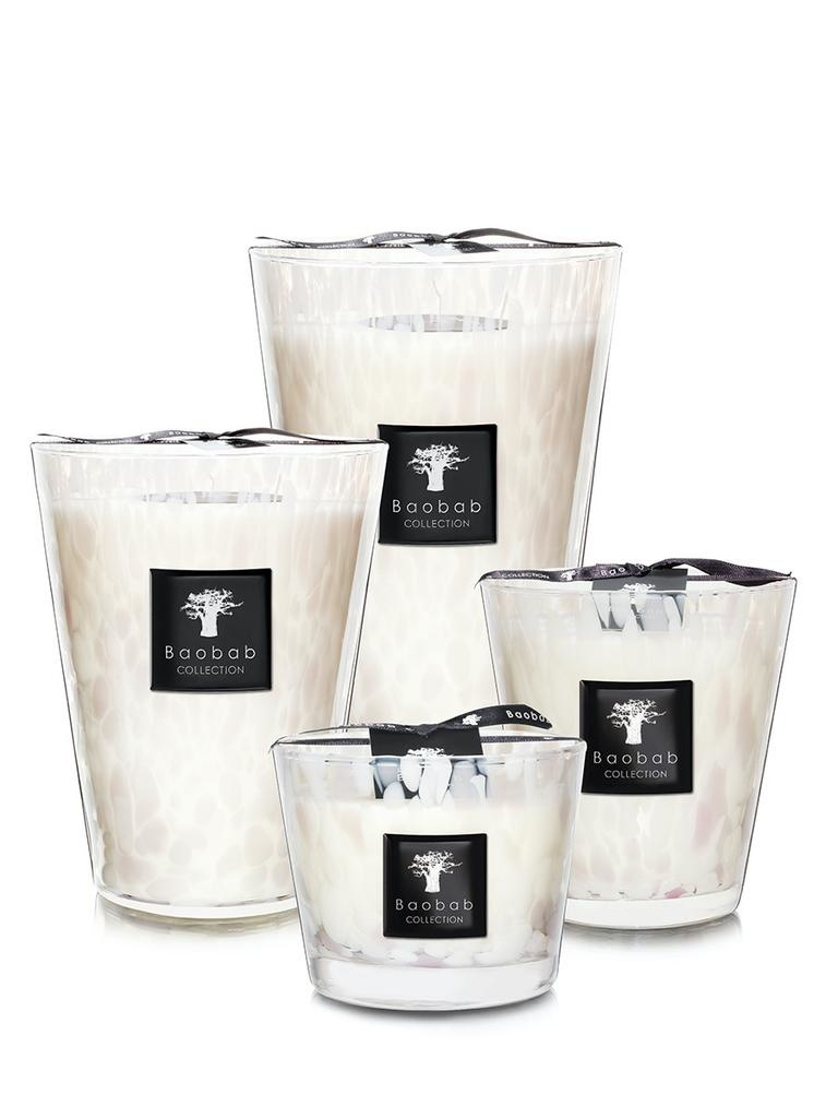 BAOBAB COLLECTION - Candle White Pearls Max 24-2