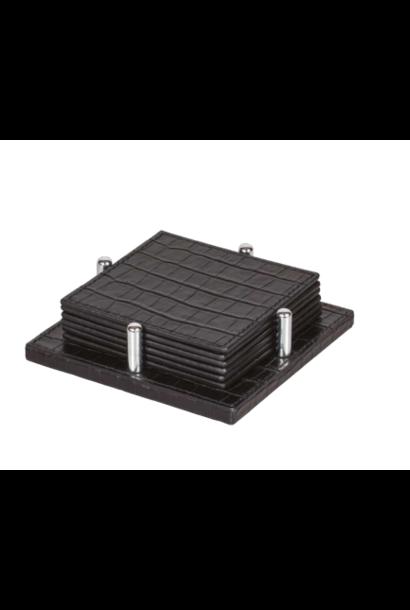 GIOBAGNARA - Coasters Black Croco