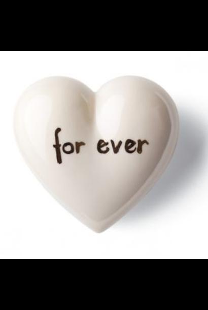 DENZ HERZ - Coeur Forever Blanc et Argent