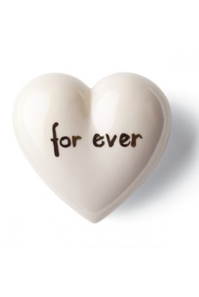 DENZ HERZ - Heart Forever White and Silver