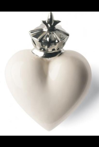 DENZ HERZ - Heart Mitter White and Silver