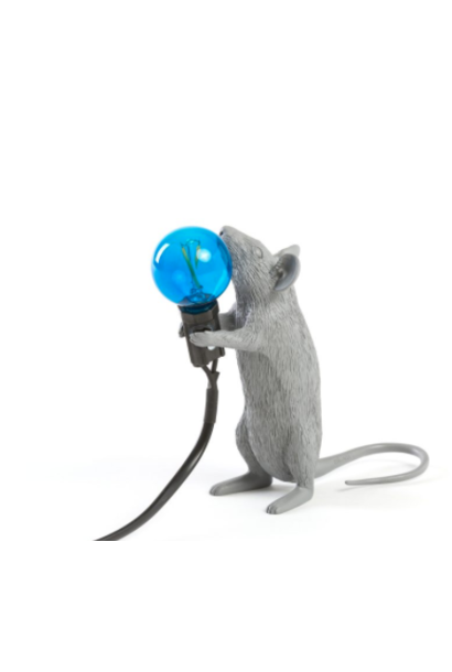 SELETTI - Gray Mouse Lamp