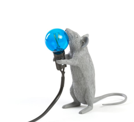 SELETTI - Gray Mouse Lamp-1