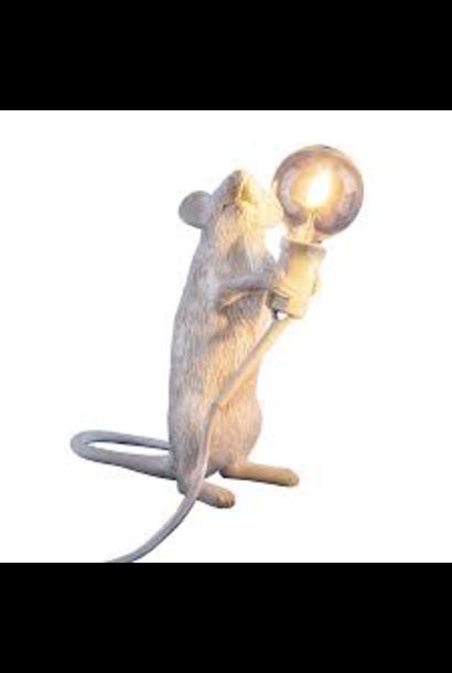 SELETTI - Lampe Souris Blanche