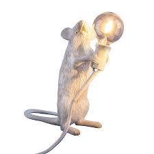 SELETTI - White Mouse Lamp-1