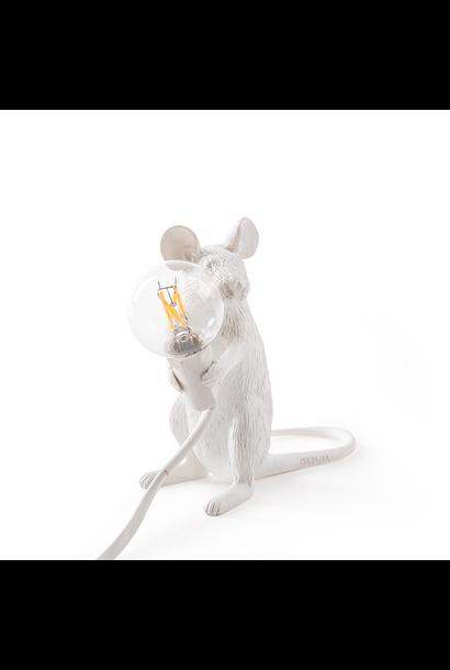 SELETTI - White Mouse Lamp