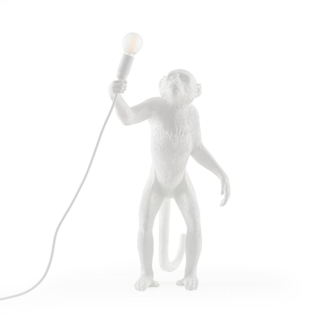 SELETTI - White Monkey Lamp-1