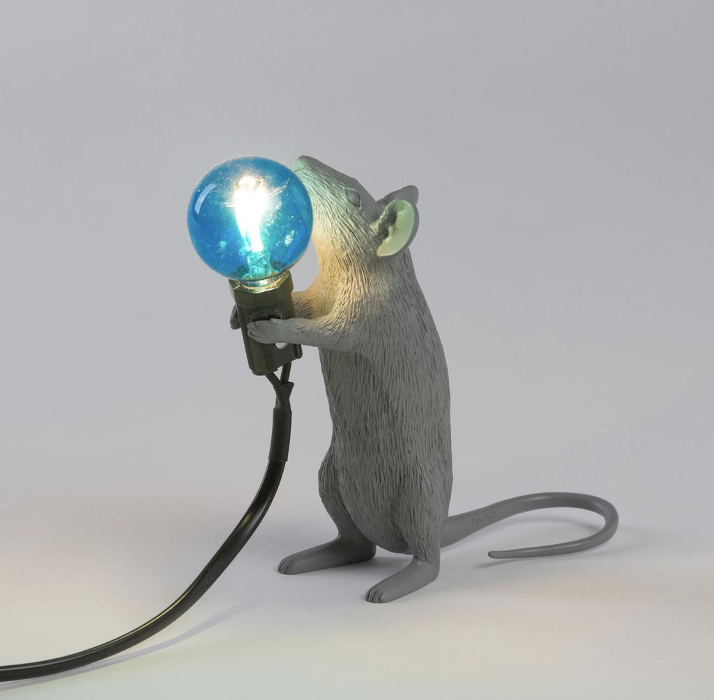 SELETTI - Gray Mouse Lamp-2