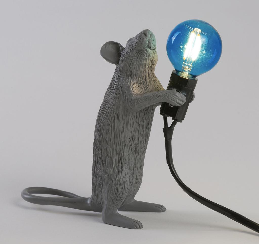 SELETTI - Gray Mouse Lamp-4