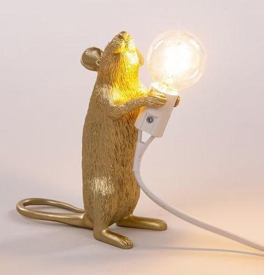 SELETTI - Golden Mouse Lamp-4