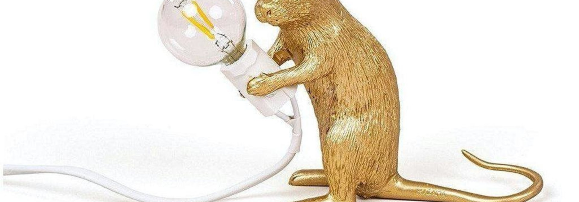SELETTI - Golden Mouse Lamp