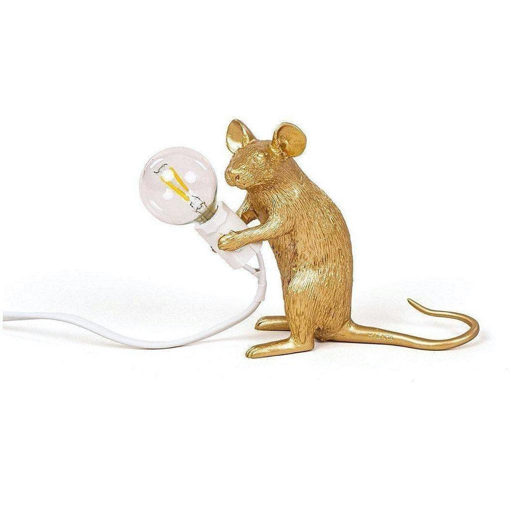 SELETTI - Golden Mouse Lamp-1