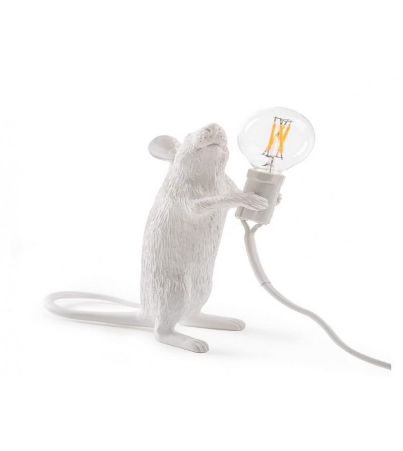 SELETTI - White Mouse Lamp-2
