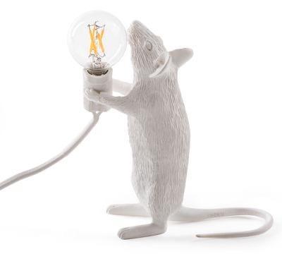 SELETTI - White Mouse Lamp-3