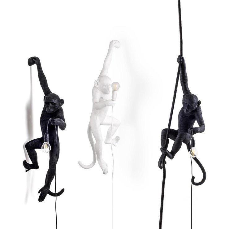 SELETTI - Rope Monkey Lamp-3