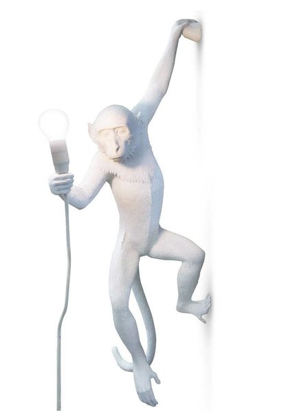 SELETTI - White Monkey Lamp