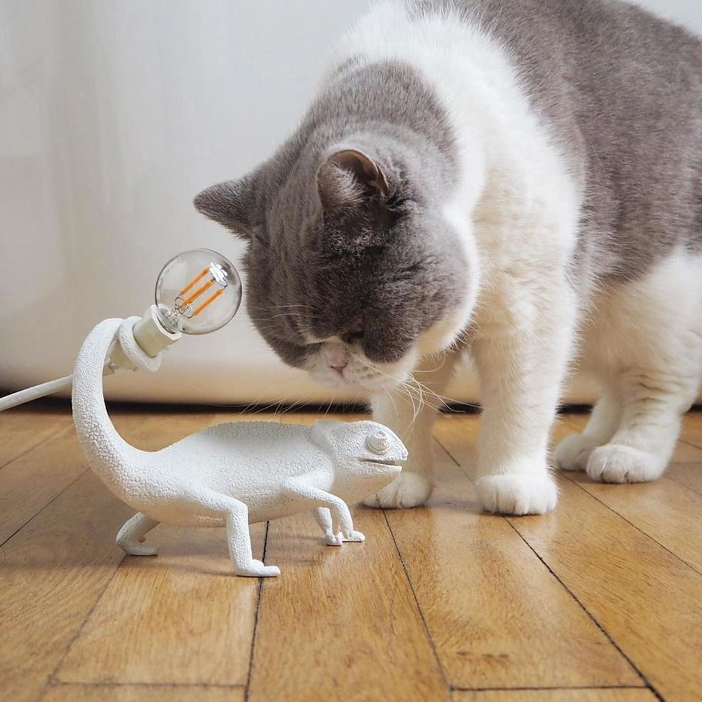 SELETTI - White Chameleon Lamp-3